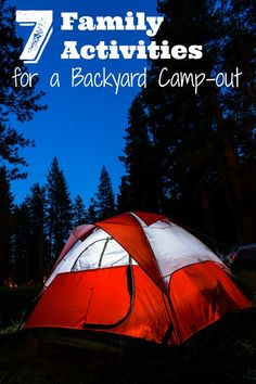 Family Camping activities for the backyard! Fun ideas for outdoor games and activities for kids and adults to do during a camping trip or backyard camp-out! Camping Ideas For Couples, Camping Hacks With Kids, Camping Bedarf, Camping Activities For Kids, Backyard Camping, Camping Spots, Camping Games, Camping Checklist, Family Camping