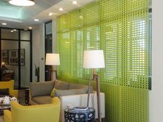 Post South Lamar | Installations  Hexa Green Apple