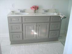 Bathroom Vanity Paint diy custom gray painted bathroom vanity from a builder grade
