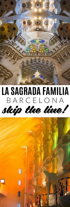 Purchase tickets online in advance and skip the long queue at La Sagrada Familia in Barcelona.  Check the full post for more tips!