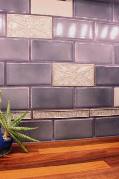 subway kitchen backsplash kiln ceramic 2x8 plum purple ceramic tile 2598