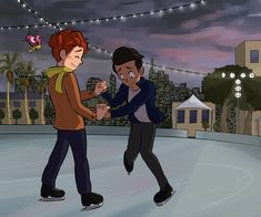 Jonathan, trying to act cool, can't skate to save his life but doesn't tell Sherwin that when Sherwin suggests going to the ice-skate rink downtown for their date. Gay Lindo, Yuri, Pansexual Pride, Gay Aesthetic, Gay Comics, Lgbt Love, Cute Gay Couples, A Series Of Unfortunate Events, Gay Art