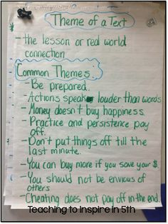 Finding the theme worksheets 3rd grade