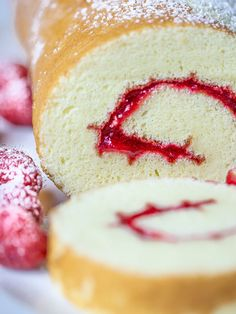 This bakery swiss roll cake recipe is direct from my familys three generations of professional bakers Incredibly light and fluffy this will be the best swiss roll cake yo. Cake Roll Recipes, Donut Recipes, Baking Recipes, Dessert Recipes, Vanilla Roll Cake Recipe, Jelly Roll Cake, Swiss Roll Cakes, Baked Cinnamon Apples, Chocolate Recipes