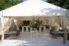 Sheer Glamour - an entrance marquee giving away of the what is to come. Photo by: Chris Munton Marquee Wedding, Wedding Reception Decorations, Luxury Wedding, Dream Wedding, Vintage Wedding Theme, Wedding Inspiration, Wedding Ideas, Grand Entrance, Celebrity Weddings