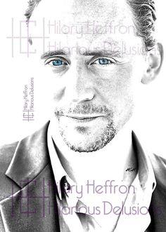 Tom Hiddleston Digital Drawing Print Loki by HilariousDelusions