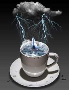 The things they are commenting about on that post are A STORM IN A TEACUP = a lot of anger on something that is not that important.
