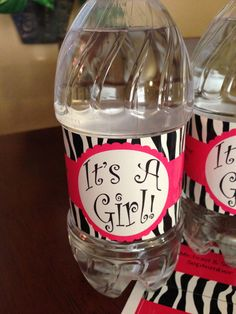 It's A Girl!  Baby Shower Custom Water Bottle Labels on Etsy, $15.00