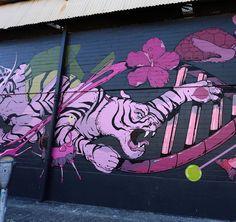 Work in progress by Seher One in Hawaii for @powwowworldwide #streetart #streetartnews @seherone by streetartnews