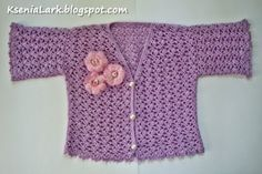 Fancy world in crochet: Free pattern of crochet summer jacket (bolero) for toddler girl.