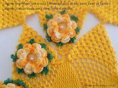 Diandra Arte em Crochê: PAP- TRILHO DE MESA RAIO DE SOL Crochet Tablecloth, Crochet Doilies, Crochet Hats, Crochet Dresses, Lana, Create Your Own, Crochet Earrings, Pattern, Crochet Throw Pattern