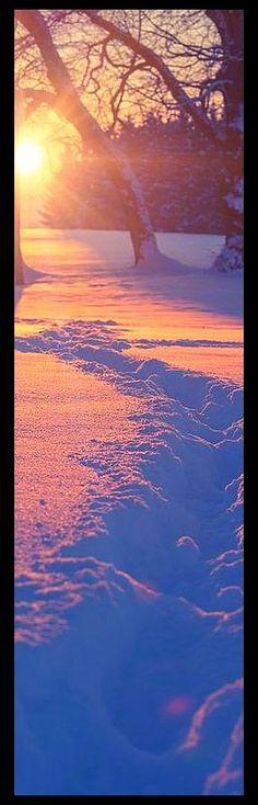 sunset winter snow landscape #www.500px.com -- Bernd Schiedl