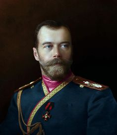 Nicholas II with his uniform of Colonel-in-chief of the Life Guards Regiment in 1913.