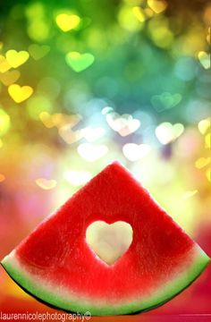 Watermelon heart ღ Heart In Nature, Heart Art, I Love Heart, Happy Heart, Drink Photo, Love Symbols, Colorful Pictures, Belle Photo, Food Art
