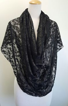 Special Occasion ScarfNshawl, Lace Scarves,  Infinity Wraps, Fancy Shawls, Unique Scarves, No Fuss Scarves by Rockurscarf on Etsy