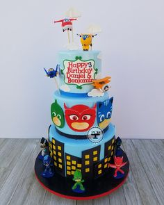 Super Wings and PJ Mask *** All work completed by Pepsy *** #cake #pepsycakesdesigns #santafesprings #losangelescakes #customcakes #pepsy #pepsycakes #Desserts #Dessert #cheflife #babyshowercake #cakeswag #cakedesigner #fondantchick #pastrychef #cakeartist #pjmaskcake #superwingscake #birthdaycake #pjmaskparty #superwingsparty #kidparty #party