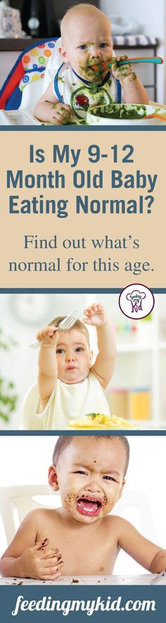 Is my child's eating normal at 9-12 months of age? Find out what's...