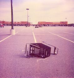 Overturn #polaroid #cart #shoppingcart #parkinglot