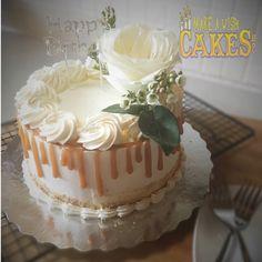 Beautiful Happy Birthday Wishes were Celebrated with this Delicious Caramel Cake. Oooh Yum! 😋 #caramelcake #makeawishcakes #happybirthday
