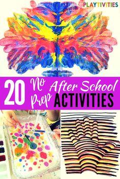 20 After School Activities That Require Minimal Set-up