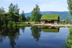 Norwegian cottages, Lillehammer, Norway