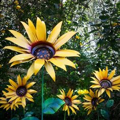 Metal Garden Stakes, Sunflower, Metal Yard Decorations, Garden Decor,  Sunflowers In Every Shape And Color