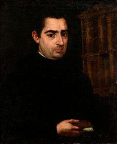 """35006976. Escuela española de finales del siglo XVII – principios del XVIII. """"Retrato"""". Óleo sobre lienzo. Medidas: 65 x 53 cm; 73,5 x 61,5 cm (marco)."""