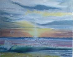 Oil painting on canvas Covesea Sunset
