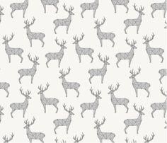 Spoonflower's Deer fabric designed by Kimsa  by Spoonflower