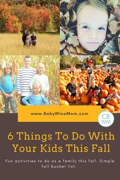 6 Things to Do With Your Kids This Fall | family activities | fall | fall activities | #familytime #fallactivities