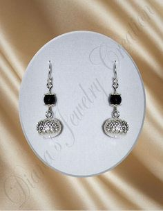 Onyx with silver plated metal beads via DJC - Handmade jewelry. Click on the image to see more!