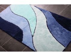 Simple Soft Navy Blue Bath Rugs : Navy Blue Bath Rugs With More Combination