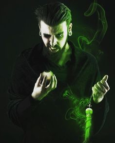 Ready para la Orla de GAV #gav #audiovisual #anastasia #rasputin #grigorirasputin #soul #leech #aura #devil #villian #eyes #madness  #orla #fel #flame #green #psycho #piercing #septum #dead #beard #die #photoshop #c4d #art #aftereffects #photo by c_risedown