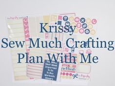 Personal Plan With Me  - Krissy