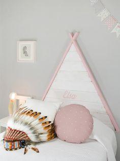 www.cabecerosymadera.es - cabeceros infantiles - cabeceros de cama - cabecero original - teepee - tipi cabecero