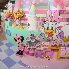 Mickey Mouse Clubhouse Birthday Party, Minnie Birthday, Mickey Party, Baby First Birthday, Mouse Parties, Mickey Minnie Mouse, 2nd Birthday Parties, Daisy Duck Party, Aries Birthday