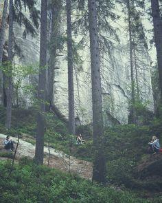 """Víkend v Adršpašských skalách byl něčím na co jsme se opravdu těšily. Zklamáním pro nás byly davy polských turistů a vypískované ohrazené cesty... """"Co tady děláme?"""" Čichnout k poznání se dá...když se sejde z vyšlapané cesty..."""