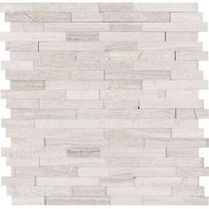 MSI White Quarry Interlocking Peel and Stick 12 in. x 12 in. x 6 mm Honed Marble Mosaic Tile sq. / - The Home Depot Self Adhesive Backsplash, Peel Stick Backsplash, Shower Backsplash, Peel And Stick Tile, Stick On Tiles, Kitchen Backsplash, Dad's Kitchen, Rustic Kitchen, Kitchen Tips