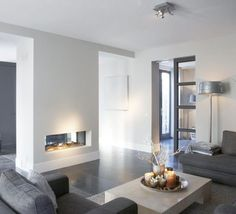 Having small living room can be one of all your problem about decoration home. To solve that, you will create the illusion of a larger space and painting your small living room with bright colors c… Living Room Interior, Home Living Room, Living Room Designs, Living Room Decor, Living Spaces, Dining Room, Home Fireplace, Fireplace Design, Fireplace Ideas