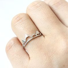 Mountain Ring/ choose your color- gold, silver and pink, mountain peak ring