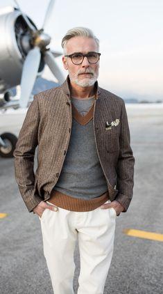 Starker Auftritt in braun, grau und beige! Boutique, Textiles, Mens Fashion, Fashion Outfits, Gentleman, Suit Jacket, Ralph Lauren, Comfy, Blazer