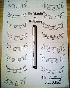 variety of banner doodles for bullet journals and planners. Give these banner headers a try in your next bujo spread Bullet Journal Headers, Bullet Journal Banner, Bullet Journal Notes, Bullet Journal 2019, Bullet Journal Aesthetic, Bullet Journal Doodles Ideas, Borders Bullet Journal, Bullet Journal Dividers, Bullet Journal Writing