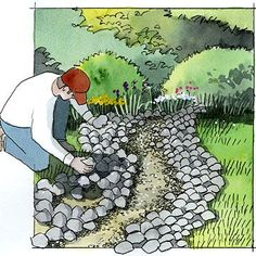 DIY Dry Creek Beds • Wonderful Ideas and Tutorials! Including, from 'bhg', a great tutorial on the basics.