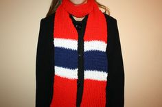 Red/Navy/White Hand-Knit Scarf by sewinknots on Etsy Knitting Needles, Hand Knitting, Hockey, Hand Knit Scarf, Red Christmas, Knit Crochet, Crochet Pattern, Knitting Projects, Navy And White