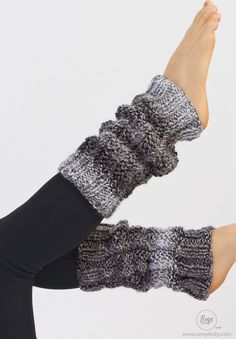 warm this winter by knitting these stylish twisted stitch leg warmers