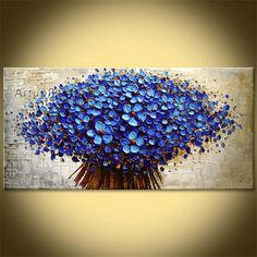 Flower Hand Painted wall Picture quadros palette knife abstract oil painting canvas Art modern Home cuadros decorate living room - EverythingBuyOnline Store Wall Painting Flowers, Hand Painting Art, Painting Edges, Oil Painting Abstract, Abstract Canvas, Canvas Art, Painting Canvas, Acrylic Flowers, Knife Painting