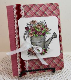 Dream in Color...: Ribbon Inspiration/Stamp Simply Style--My Mind's Eye