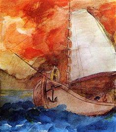 The Boat - Odilon Redon
