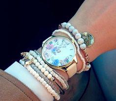 Zegarek Damski Slim Kwiaty Wiosenny Motyl EdiBazzar Boho Style, Boho Fashion, Bracelet Watch, Watches, Bracelets, Accessories, Bohemian Fashion, Wristwatches, Boho Outfits