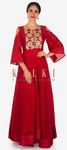 Buy Online from the link below. We ship worldwide Click Anywhere to Tag Rani pink anarkali suit with embroidered placket and cold shoulder only on Kalki Indian Party Wear, Indian Wear, Indian Dresses, Indian Outfits, Party Wear Dresses, Indian Designer Wear, Lovely Dresses, Salwar Suits, Salwar Kameez